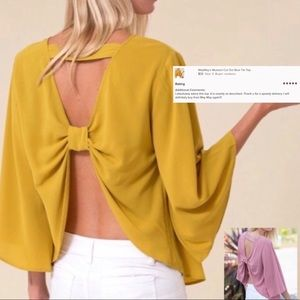 COPY - Mustard Cut Out  Bow Top